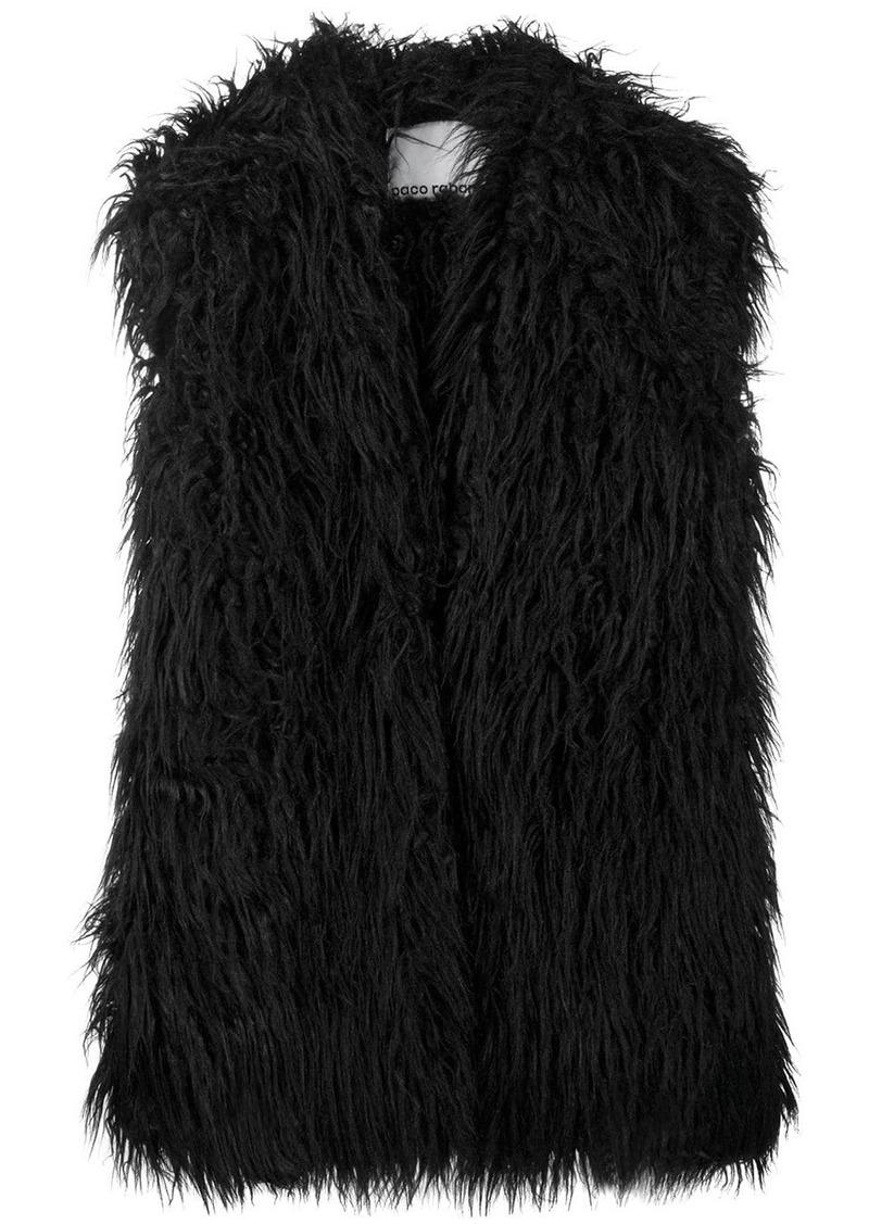 Paco Rabanne faux-fur oversized gilet