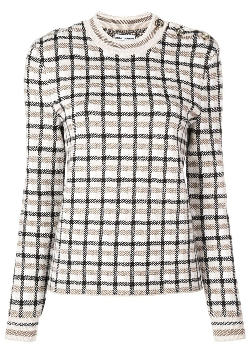 Paco Rabanne check sweater