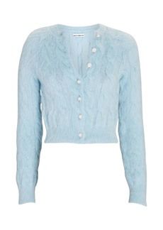 Paco Rabanne Cable Knit Mohair-Blend Cardigan