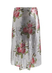 Paco Rabanne Chainmail Floral Wrap Skirt