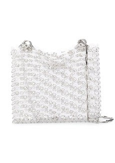 Paco Rabanne crystal chain-link tote