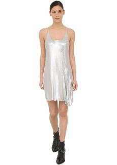 Paco Rabanne Flared Mini Mesh Tank Dress