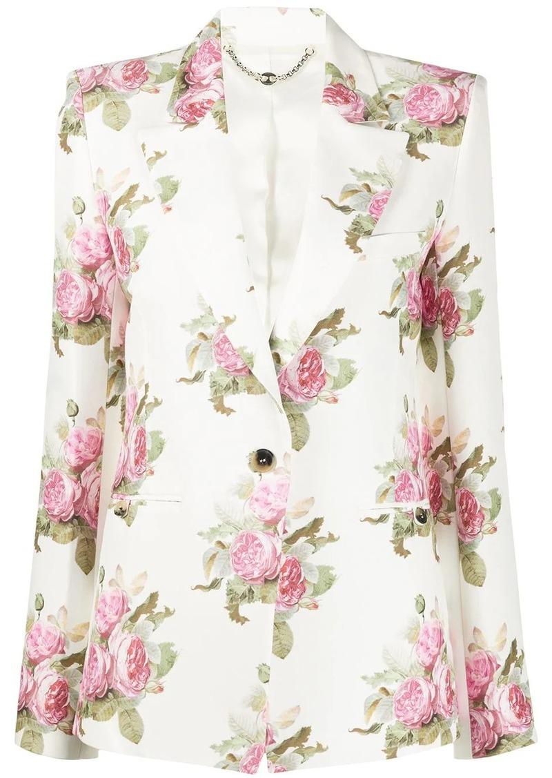 Paco Rabanne floral-print blazer