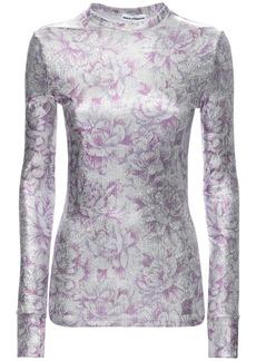 Paco Rabanne Floral Print Viscose Blend Top