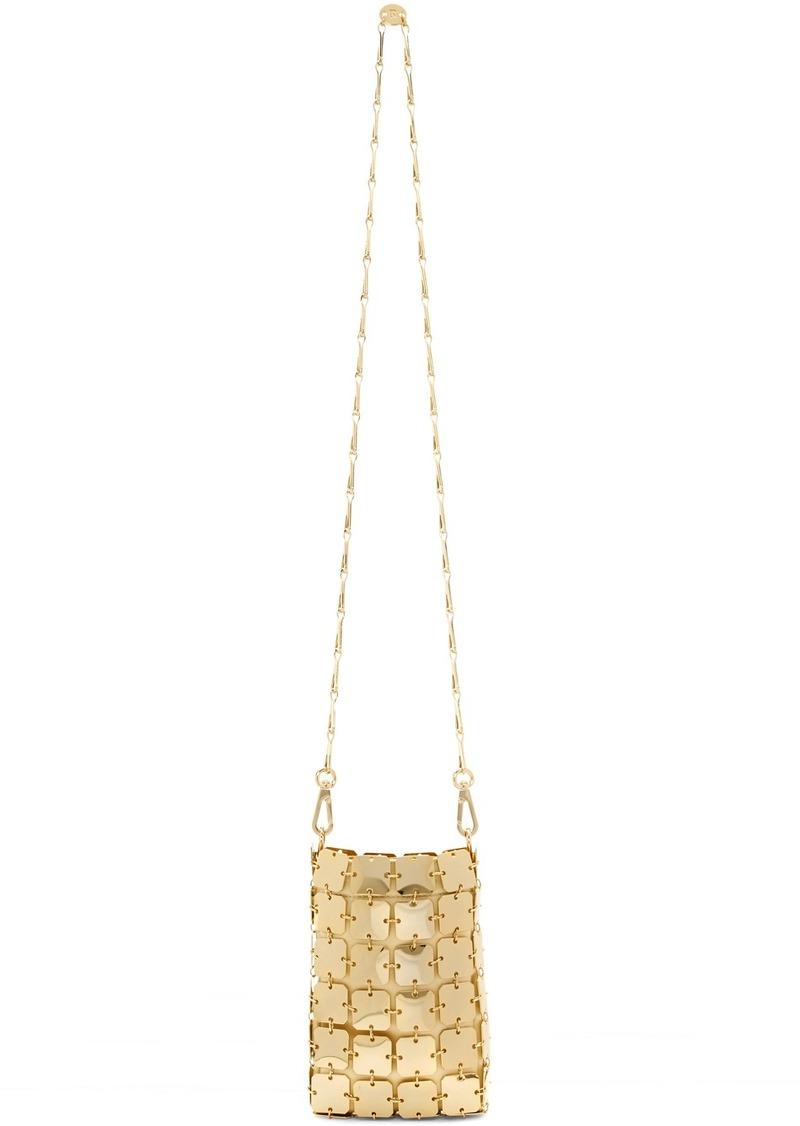 Paco Rabanne Gold Mini Iconic Chain Bag