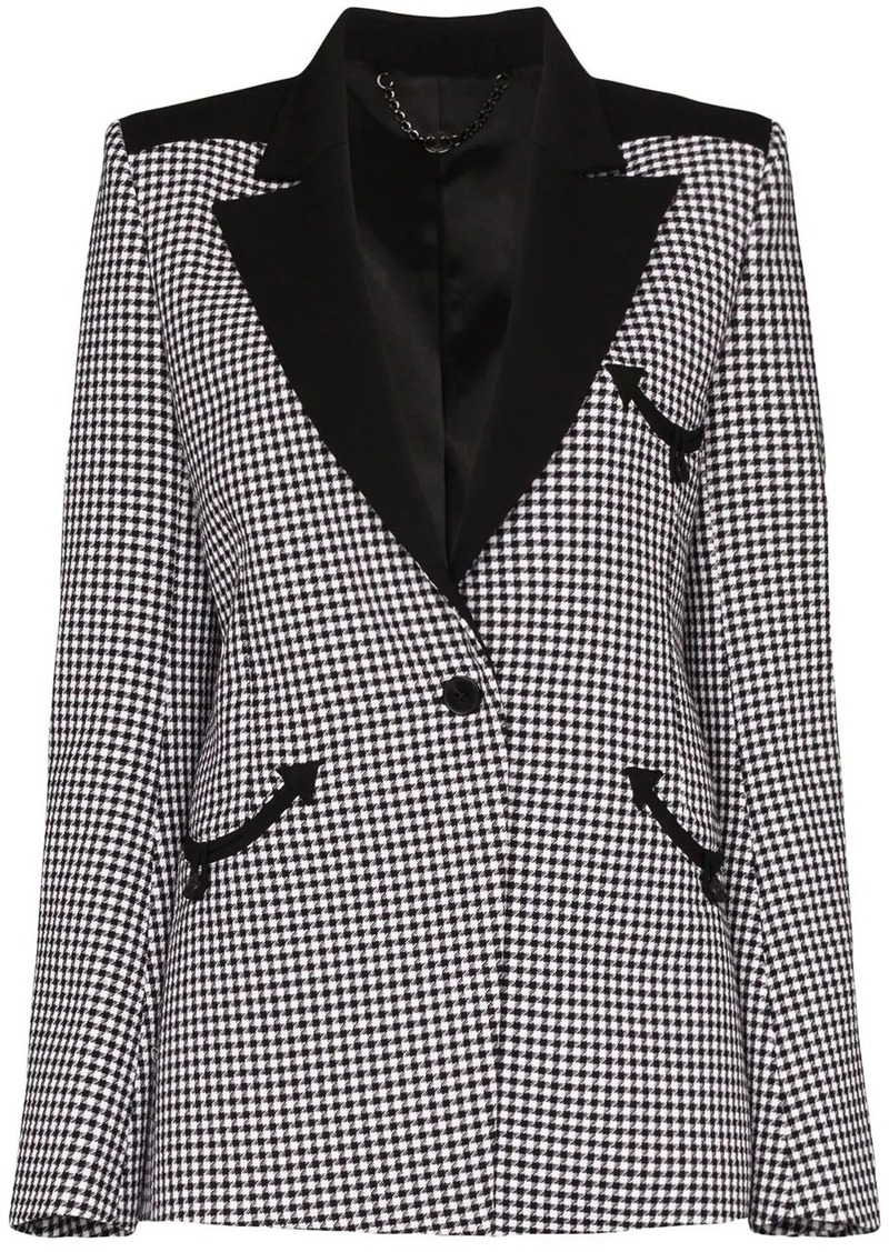 Paco Rabanne houndstooth single-breasted blazer