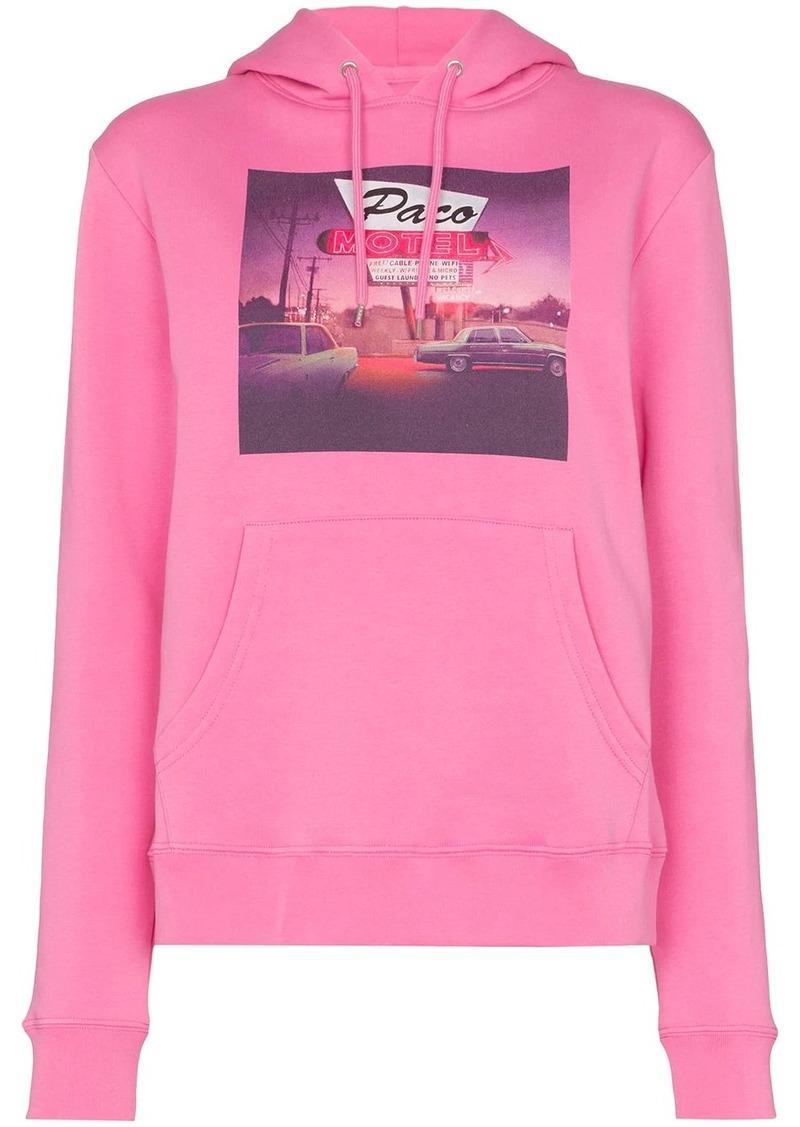Paco Rabanne key print hoodie