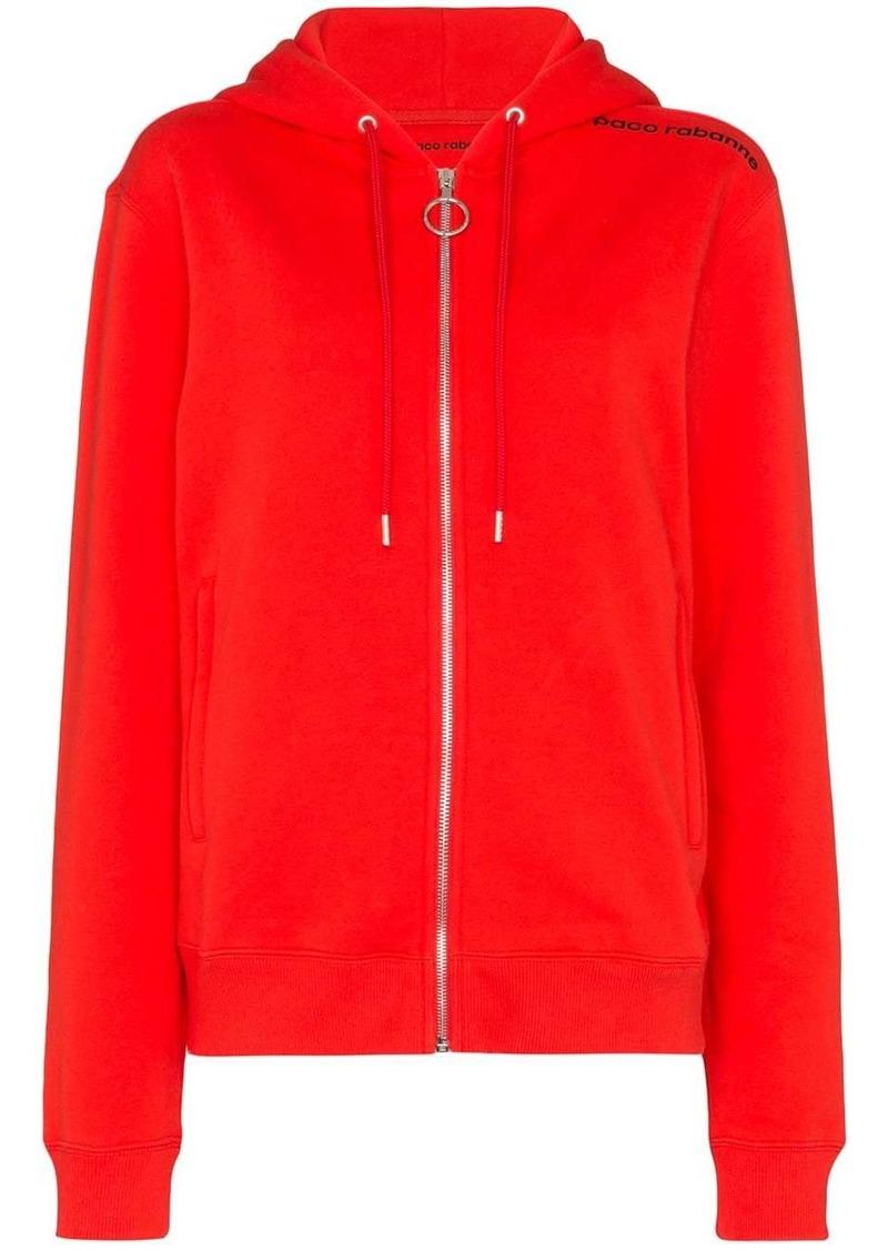 Paco Rabanne logo-print cotton hoodie