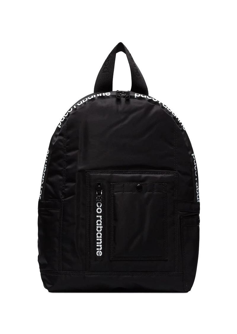 Paco Rabanne logo-print sports backpack