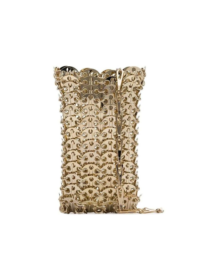 Paco Rabanne metallic gold Iconic 1968 mini chainmail crossbody bag