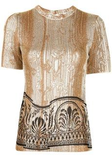 Paco Rabanne metallic threading jacquard T-shirt
