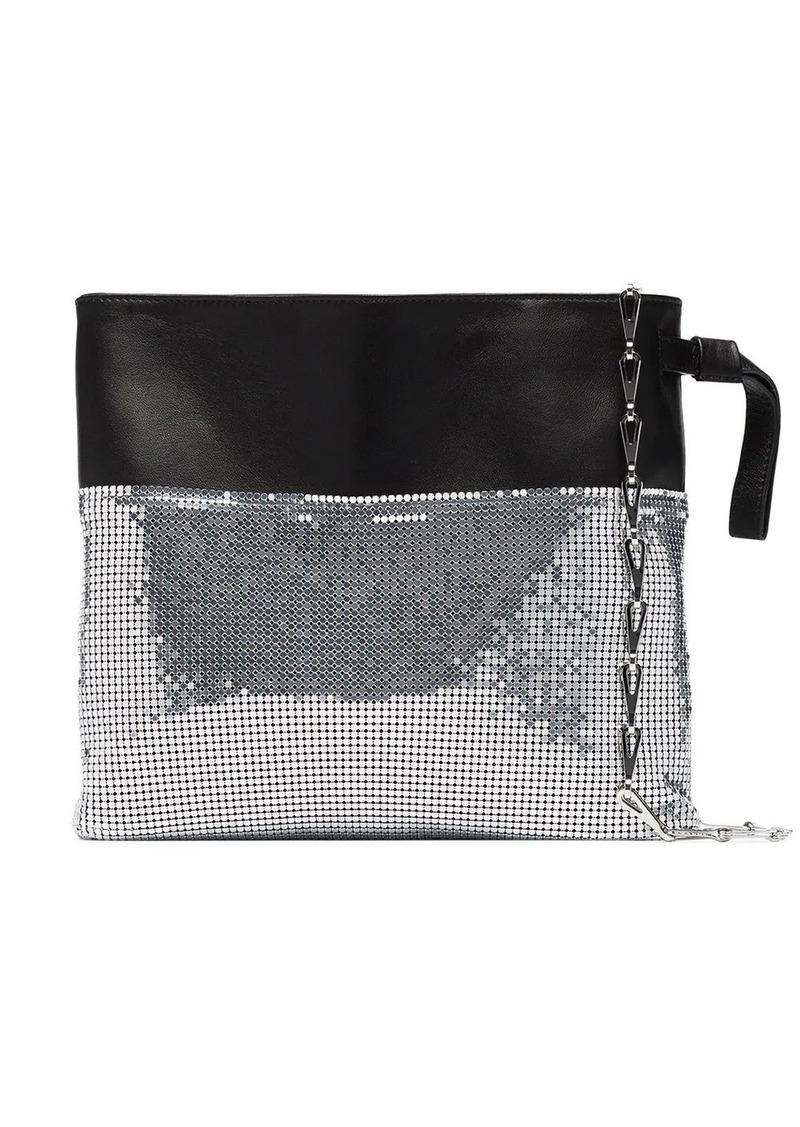 Paco Rabanne metallic TT chain bracelet bag