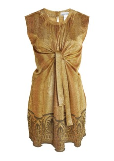 Paco Rabanne - Women's Printed Lurex-Jersey Tunic Top - Gold - Moda Operandi
