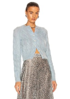 PACO RABANNE Cable Knit Cardigan