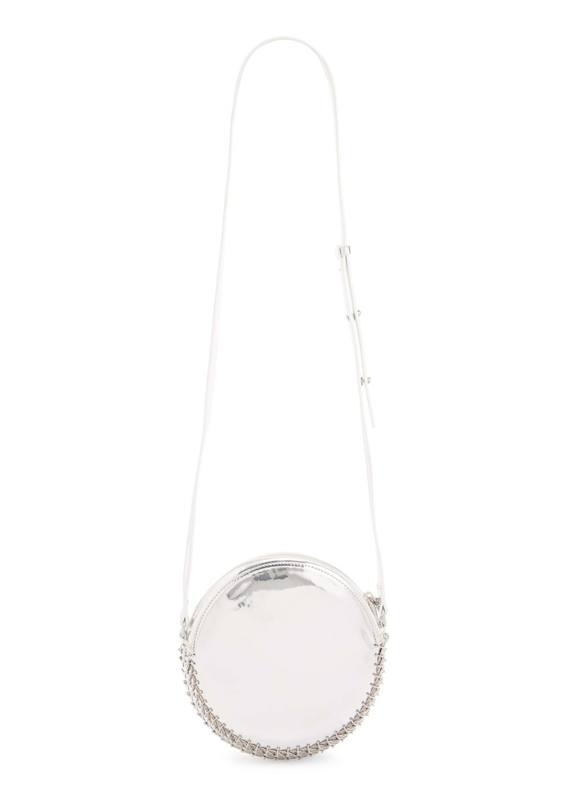 paco rabanne Calfskin Leather Circle Shoulder Bag