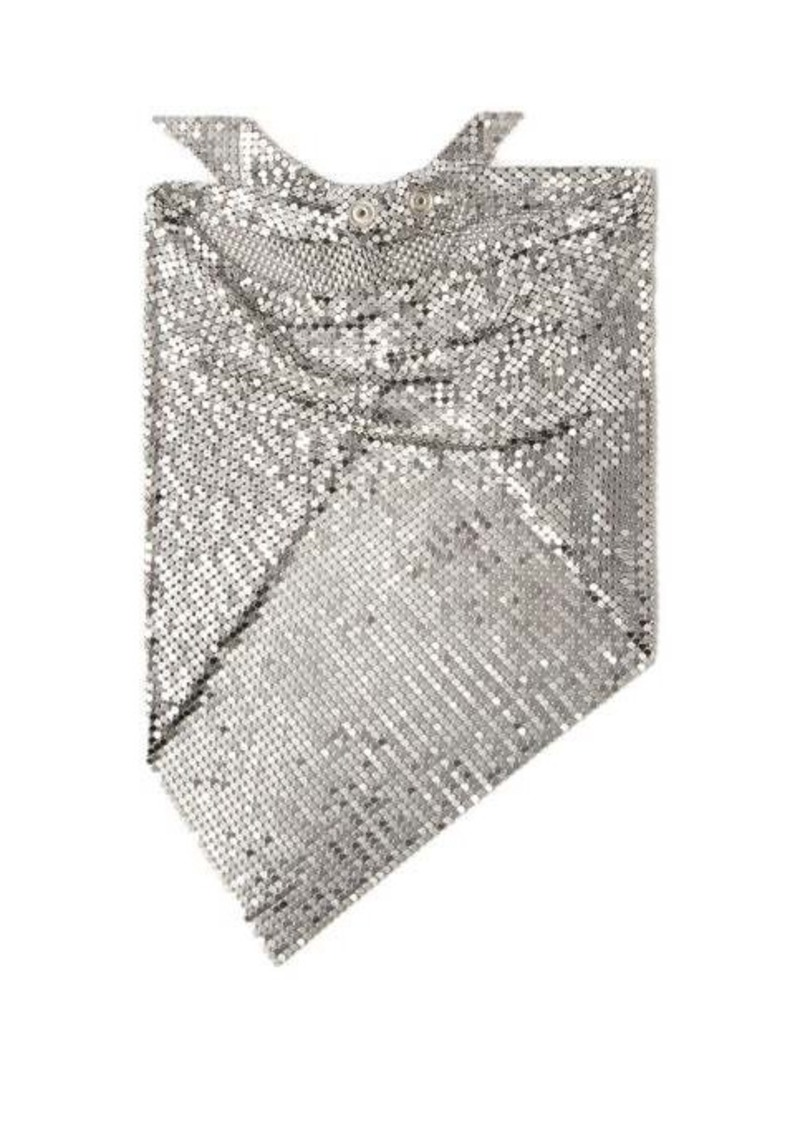 Paco Rabanne Chainmail mesh triangle scarf