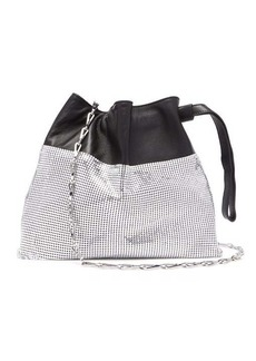 Paco Rabanne Drawstring chain-mesh and leather pouch