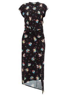 Paco Rabanne Floral-print gathered jersey dress