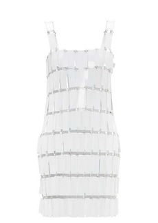 Paco Rabanne Fringed-paillette chainmail mini dress