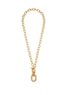 Paco Rabanne Hoop-pendant chain necklace