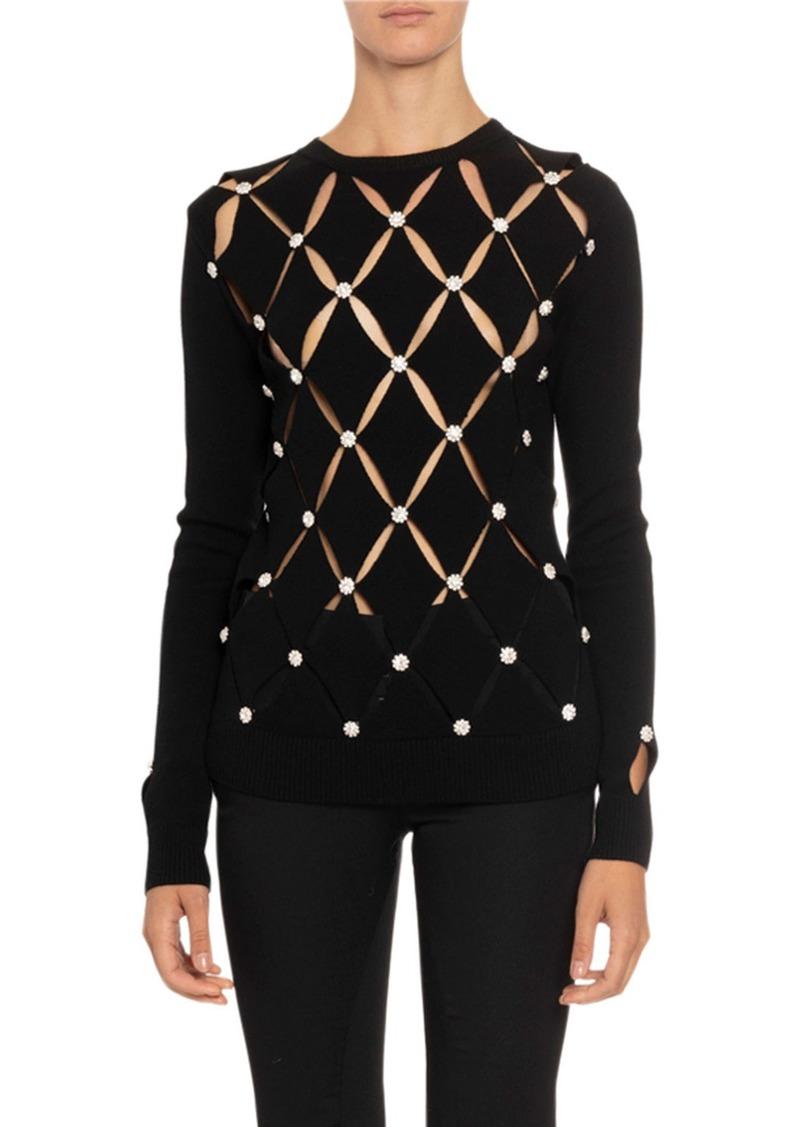 Paco Rabanne Laser-Cut Wool Sweater