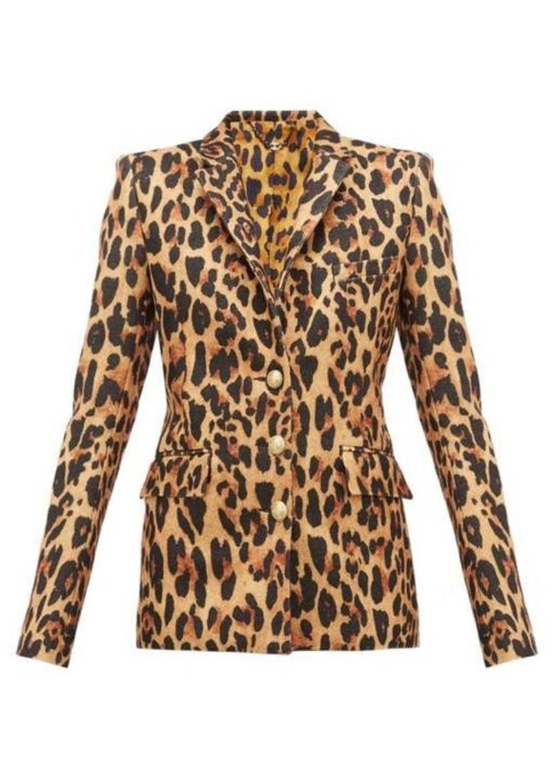 Paco Rabanne Leopard-print wool-blend blazer