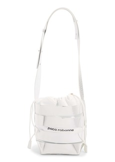 paco rabanne Metallic Mirror Cage Faux Leather Hobo Bag