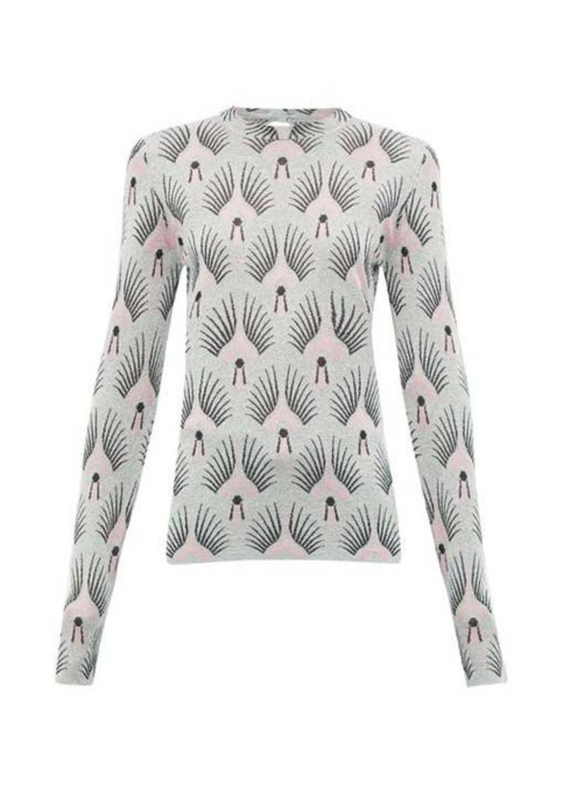 Paco Rabanne Metallic pattern-jacquard sweater