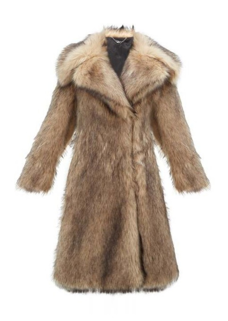 Paco Rabanne Oversized faux-fur coat