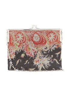 Paco Rabanne Pixel small floral-print chainmail shoulder bag