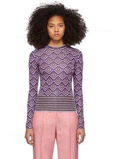 Paco Rabanne Purple Jacquard Stripes Top