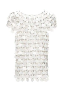 Paco Rabanne Sequinned chainmail top
