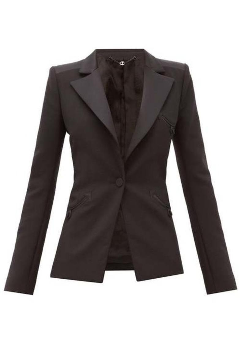 Paco Rabanne Single-breasted wool-blend crepe jacket