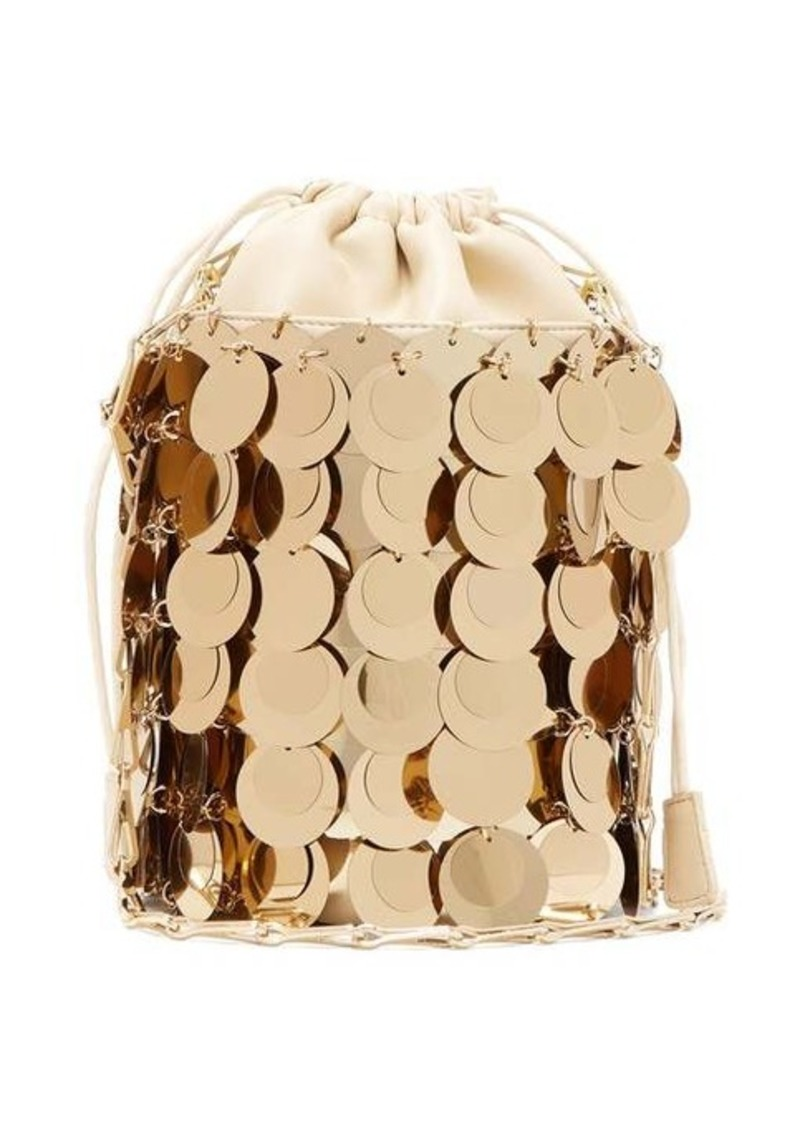 Paco Rabanne Sparkle 1966 small sequinned bucket bag