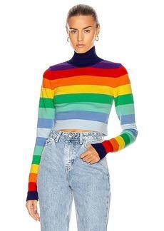 PACO RABANNE Striped Turtleneck Sweater