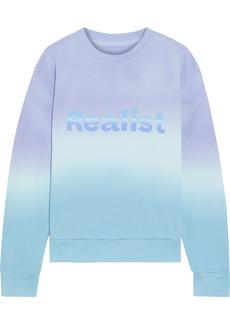 Paco Rabanne Woman + Peter Saville Printed Dégradé Cotton-fleece Sweatshirt Light Blue