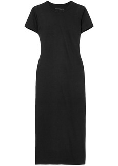 Paco Rabanne Woman Printed Cotton-jersey Midi Dress Black
