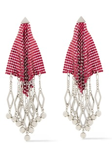 Paco Rabanne Woman Silver-tone Chainmail Earrings Silver