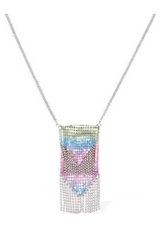Paco Rabanne Rainbow Mesh Pendant Necklace