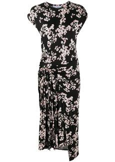 Paco Rabanne Sakura cherry blossom midi dress