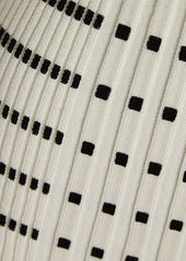 Paco Rabanne Striped Rib Knit Top