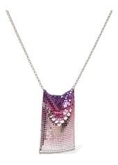 Paco Rabanne Tie & Dye Gradient Mesh Long Necklace