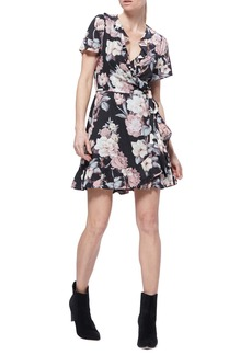 Paige Cardamom Floral Ruffle Detail Minidress