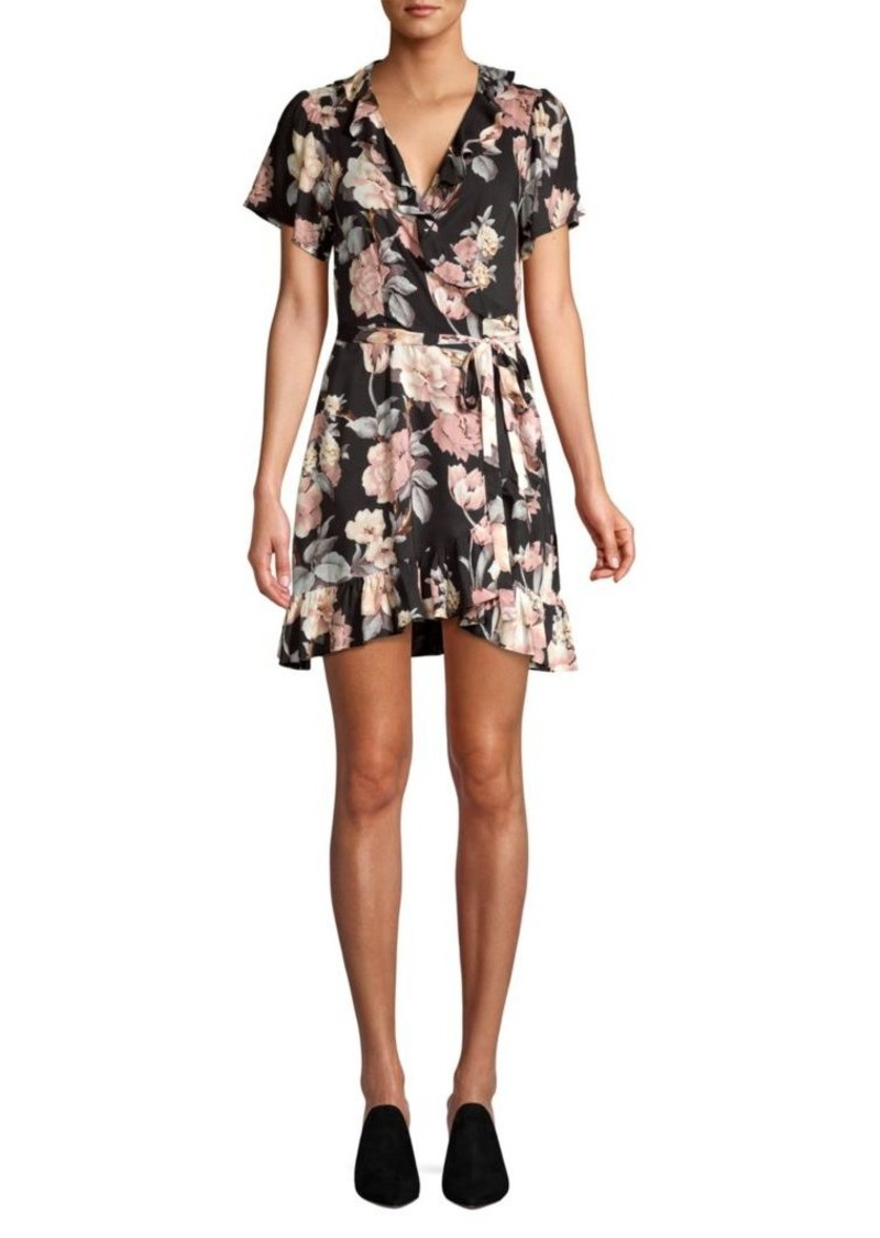 Paige Cardamom Floral Wrap Dress