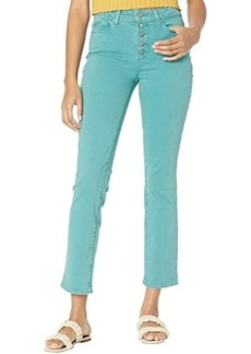 Paige Cindy w/ Exposed Buttonfly in Vintage Daytime Blue