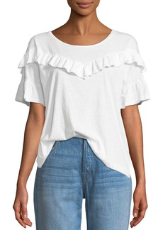 Paige Denim Adalie Ruffle Short-Sleeve Top