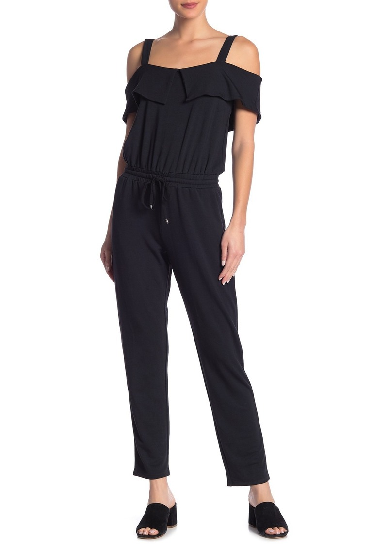 Paige Alisanne Cold Shoulder Popover Jumpsuit