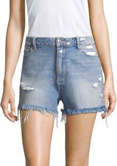 Paige Denim Babes Distressed Denim Shorts