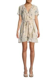 Paige Denim Cardamom Floral Silk Wrap Dress