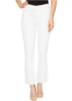 Paige Denim Colette Crop Flare with Raw Hem in Optic White